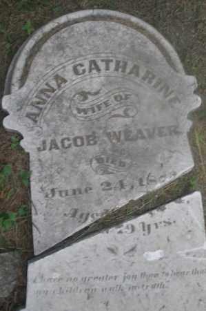 WEAVER, ANNA CATHARINE - Montgomery County, Ohio | ANNA CATHARINE WEAVER - Ohio Gravestone Photos