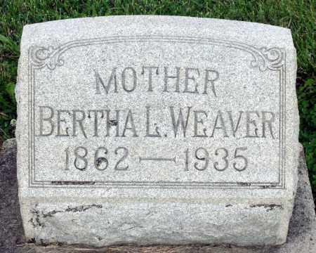 WEAVER, BERTHA L. - Montgomery County, Ohio   BERTHA L. WEAVER - Ohio Gravestone Photos