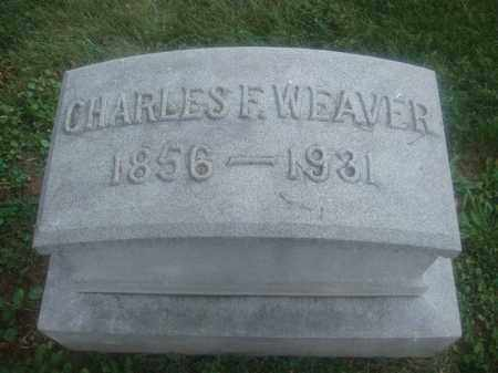 WEAVER, CHARLES F. - Montgomery County, Ohio | CHARLES F. WEAVER - Ohio Gravestone Photos