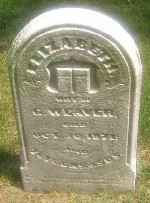 WEAVER, ELIZABETH - Montgomery County, Ohio   ELIZABETH WEAVER - Ohio Gravestone Photos