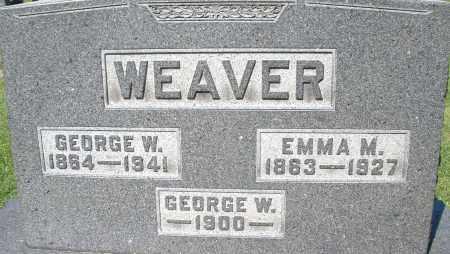 WEAVER, GEORGE W. - Montgomery County, Ohio   GEORGE W. WEAVER - Ohio Gravestone Photos