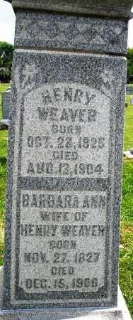 WEAVER, BARBARA ANN - Montgomery County, Ohio | BARBARA ANN WEAVER - Ohio Gravestone Photos