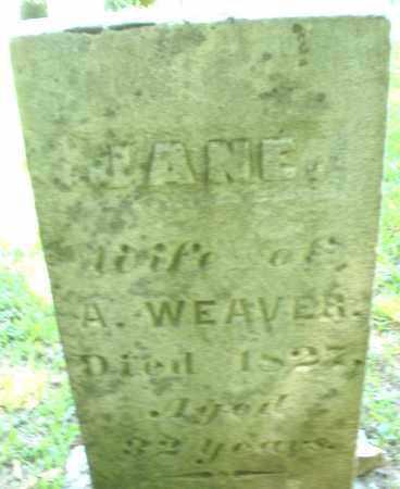 WEAVER, JANE - Montgomery County, Ohio | JANE WEAVER - Ohio Gravestone Photos