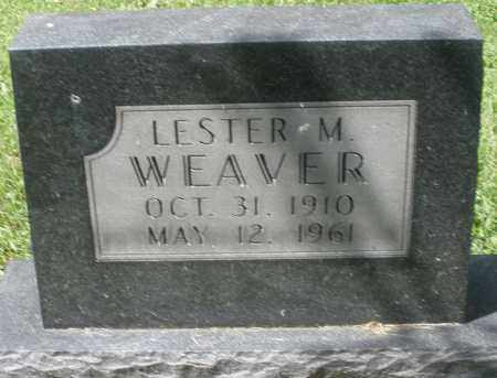 WEAVER, LESTER M. - Montgomery County, Ohio   LESTER M. WEAVER - Ohio Gravestone Photos