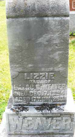 WEAVER, LIZZIE - Montgomery County, Ohio   LIZZIE WEAVER - Ohio Gravestone Photos