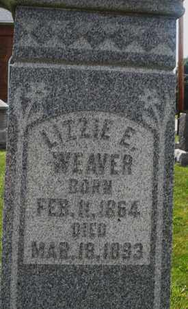 WEAVER, LIZZIE E. - Montgomery County, Ohio | LIZZIE E. WEAVER - Ohio Gravestone Photos