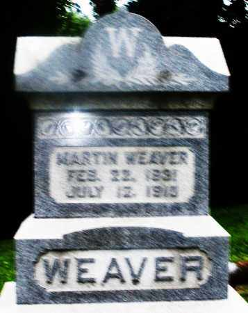 WEAVER, MARTIN - Montgomery County, Ohio   MARTIN WEAVER - Ohio Gravestone Photos
