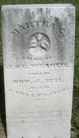 WEAVER, MARTHA - Montgomery County, Ohio | MARTHA WEAVER - Ohio Gravestone Photos