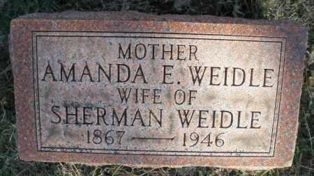 WEIDLE, AMANDA E. - Montgomery County, Ohio | AMANDA E. WEIDLE - Ohio Gravestone Photos