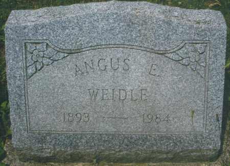 WEIDLE, ANGUS EDGAR - Montgomery County, Ohio | ANGUS EDGAR WEIDLE - Ohio Gravestone Photos