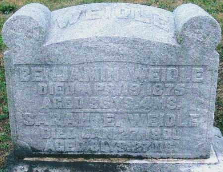 WEIDLE, BENJAMIN - Montgomery County, Ohio | BENJAMIN WEIDLE - Ohio Gravestone Photos