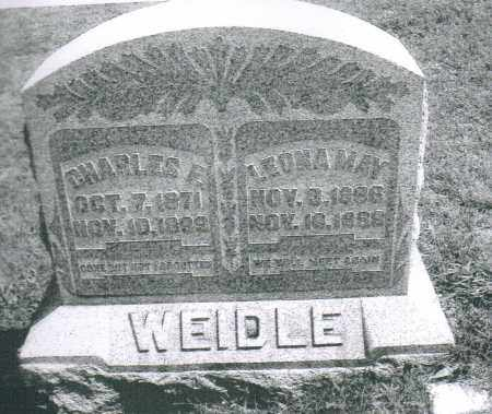 WEIDLE, CHARLES FRANKLIN - Montgomery County, Ohio | CHARLES FRANKLIN WEIDLE - Ohio Gravestone Photos