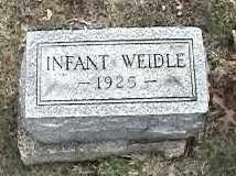 WEIDLE, INFANT - Montgomery County, Ohio | INFANT WEIDLE - Ohio Gravestone Photos