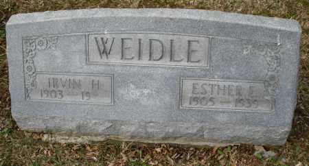 WEIDLE, ESTHER E. - Montgomery County, Ohio   ESTHER E. WEIDLE - Ohio Gravestone Photos