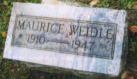 WEIDLE, MAURICE - Montgomery County, Ohio | MAURICE WEIDLE - Ohio Gravestone Photos