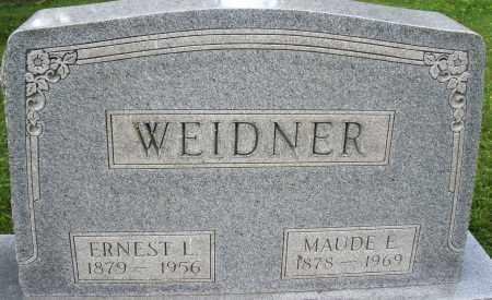 WEIDNER, ERNEST L. - Montgomery County, Ohio | ERNEST L. WEIDNER - Ohio Gravestone Photos
