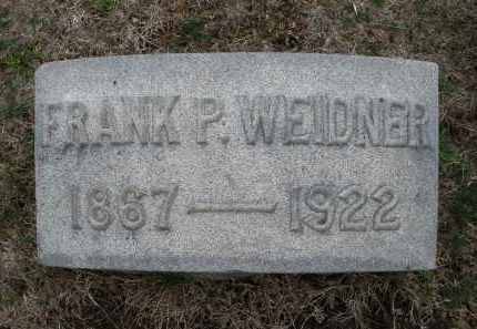 WEIDNER, FRANK P. - Montgomery County, Ohio   FRANK P. WEIDNER - Ohio Gravestone Photos