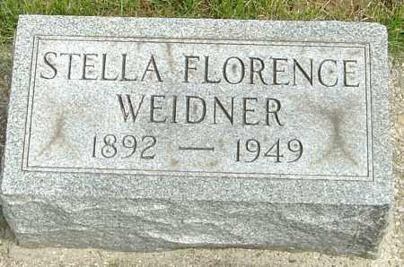 WEIDNER, STELLA FLORENCE - Montgomery County, Ohio   STELLA FLORENCE WEIDNER - Ohio Gravestone Photos