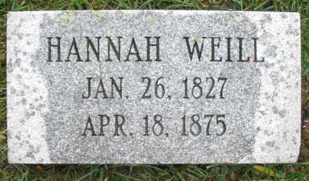 WEILL, HANNAH - Montgomery County, Ohio   HANNAH WEILL - Ohio Gravestone Photos