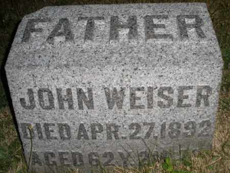WEISER, JOHN - Montgomery County, Ohio   JOHN WEISER - Ohio Gravestone Photos