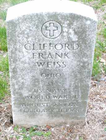 WEISS, CLIFFORD FRANK - Montgomery County, Ohio | CLIFFORD FRANK WEISS - Ohio Gravestone Photos