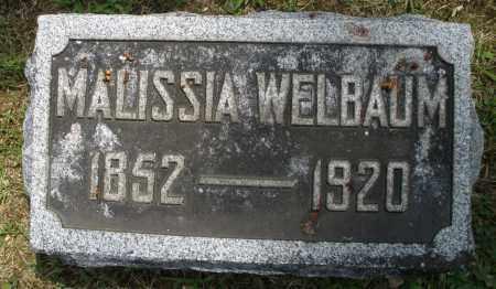 WELBAUM, MALISSIA - Montgomery County, Ohio | MALISSIA WELBAUM - Ohio Gravestone Photos