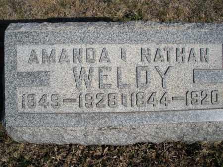 WELDY, NATHAN - Montgomery County, Ohio   NATHAN WELDY - Ohio Gravestone Photos