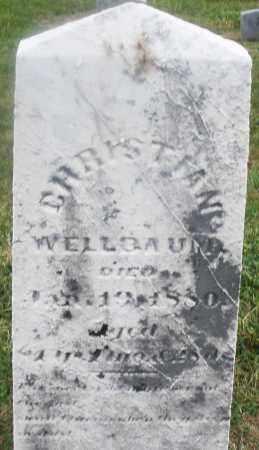 WELLBAUM, CHRISTIAN - Montgomery County, Ohio | CHRISTIAN WELLBAUM - Ohio Gravestone Photos