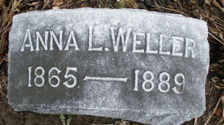 WELLER, ANNA L. - Montgomery County, Ohio | ANNA L. WELLER - Ohio Gravestone Photos