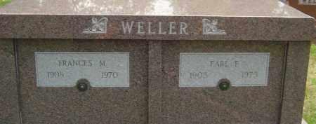 WELLER, EARL FRANCIS - Montgomery County, Ohio | EARL FRANCIS WELLER - Ohio Gravestone Photos
