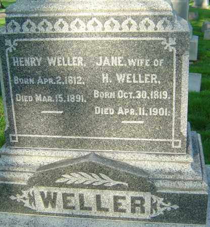 IRVIN WELLER, JANE - Montgomery County, Ohio | JANE IRVIN WELLER - Ohio Gravestone Photos