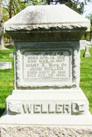 ANDERSON WELLER, MARY ANN - Montgomery County, Ohio | MARY ANN ANDERSON WELLER - Ohio Gravestone Photos