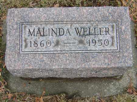 WELLER, MALINDA - Montgomery County, Ohio | MALINDA WELLER - Ohio Gravestone Photos