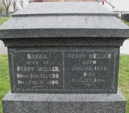 WELLER, SARAH - Montgomery County, Ohio | SARAH WELLER - Ohio Gravestone Photos