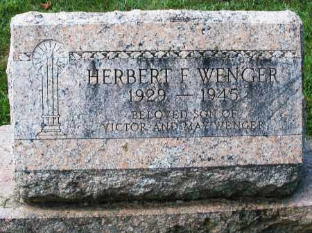WENGER, HERBERT F. - Montgomery County, Ohio | HERBERT F. WENGER - Ohio Gravestone Photos