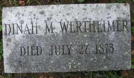 WERTHEIMER, DINAH M. - Montgomery County, Ohio | DINAH M. WERTHEIMER - Ohio Gravestone Photos