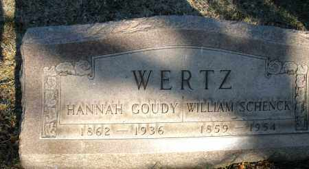 GOUDY WERTZ, HANNAH - Montgomery County, Ohio | HANNAH GOUDY WERTZ - Ohio Gravestone Photos