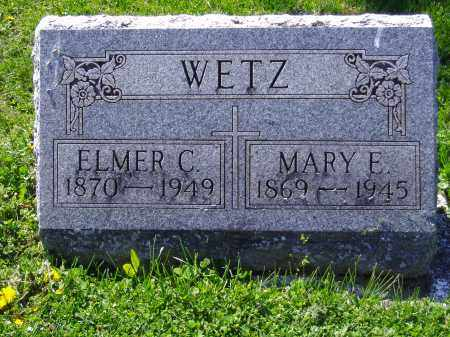 WETZ, MARY E - Montgomery County, Ohio | MARY E WETZ - Ohio Gravestone Photos