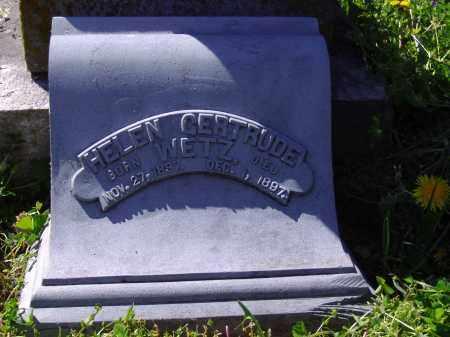 WETZ, HELEN GERTRUDE - Montgomery County, Ohio | HELEN GERTRUDE WETZ - Ohio Gravestone Photos