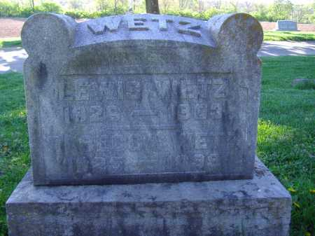 WETZ, LEWIS - Montgomery County, Ohio | LEWIS WETZ - Ohio Gravestone Photos