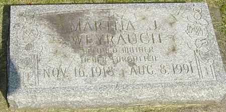 WEYRAUCH, MARTHA J - Montgomery County, Ohio | MARTHA J WEYRAUCH - Ohio Gravestone Photos