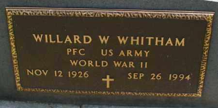 WHITHAM, WILLARD W. - Montgomery County, Ohio | WILLARD W. WHITHAM - Ohio Gravestone Photos