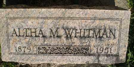 WHITMAN, ALTHA M. - Montgomery County, Ohio | ALTHA M. WHITMAN - Ohio Gravestone Photos