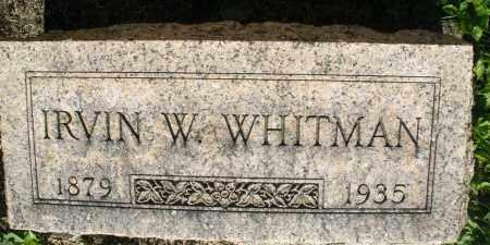 WHITMAN, IRVIN W. - Montgomery County, Ohio | IRVIN W. WHITMAN - Ohio Gravestone Photos
