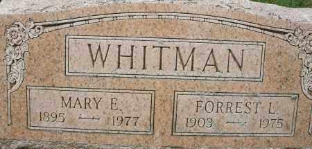 WHITMAN, MARY E. - Montgomery County, Ohio | MARY E. WHITMAN - Ohio Gravestone Photos