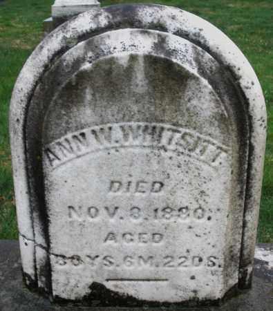 WHITSITT, ANN W. - Montgomery County, Ohio | ANN W. WHITSITT - Ohio Gravestone Photos
