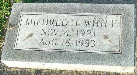 WHITT, MILDRED J - Montgomery County, Ohio | MILDRED J WHITT - Ohio Gravestone Photos