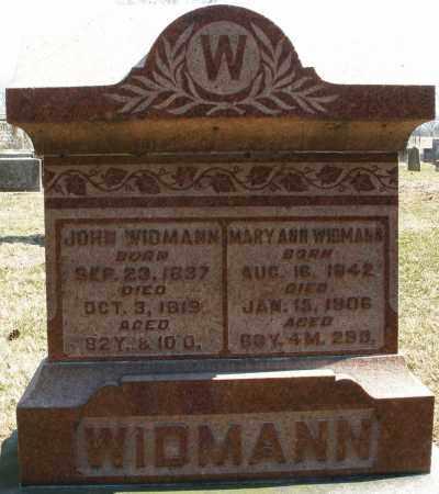 WIDMANN, JOHN - Montgomery County, Ohio | JOHN WIDMANN - Ohio Gravestone Photos