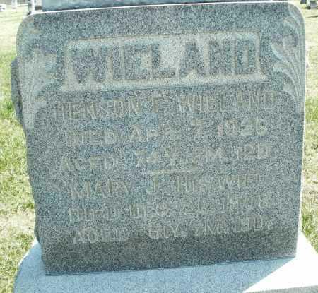 WIELAND, HENSON - Montgomery County, Ohio | HENSON WIELAND - Ohio Gravestone Photos
