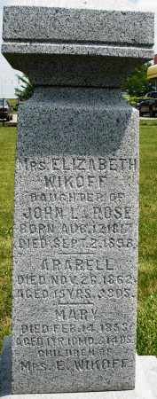 WIKOFF, ARABELL - Montgomery County, Ohio | ARABELL WIKOFF - Ohio Gravestone Photos